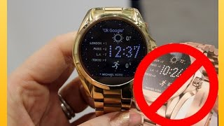 michael kors smart watch unboxing and review drama part 1