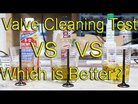 Valve Cleaner Test  B12 Chemtool vs Gumout vs Lucas oil