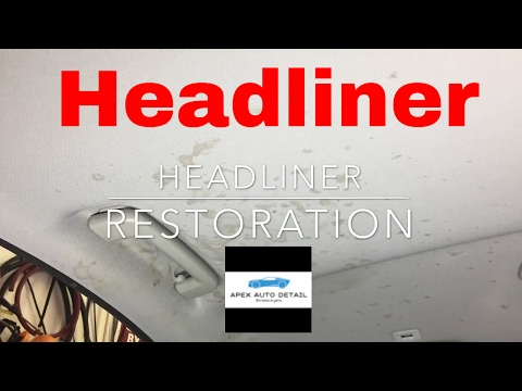 Headliner Restoration:Stain removal, Spot removal, smoke, discoloration, coffee, soda, water marks!!