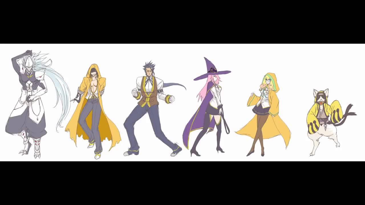 Six Heroes Blazblue