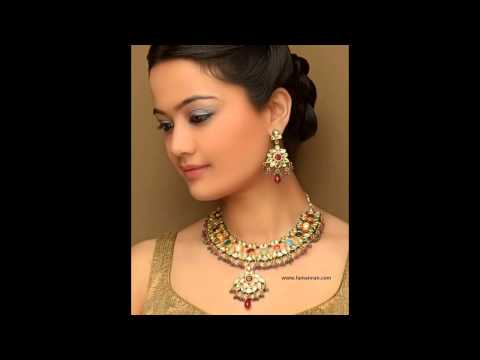 Eid Special New Marriage Fashion Gold Ruby Diamond Jewellery.