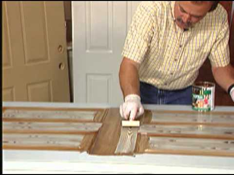 How to make a metal door look like wood with zar wood stain youtube - Making a steel door look like wood ...