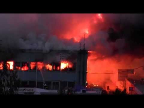 Пожар рынок Тухачевский в Ставрополе