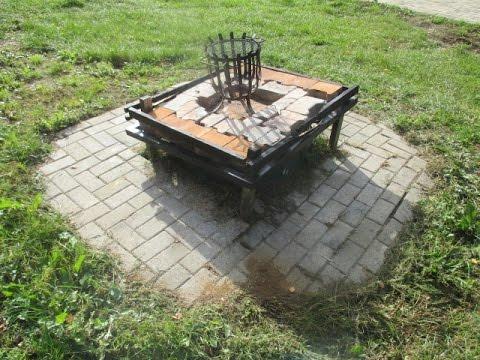 Feuerstelle Garten Mit Xl Pflanzkübel Feuerstelle Pflastern Youtube