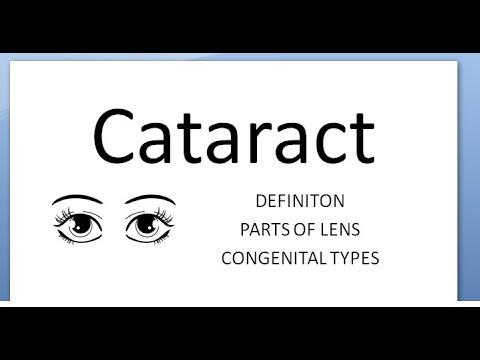 Ophthalmology 190 Cataract Define Types Morphological Congenital Parts Of Lens Eye What Is Opacity