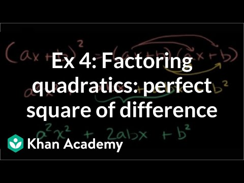 Example 4: Factoring quadratics as a perfect square of a difference: (a-b)^2 | Khan Academy