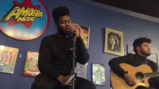 Khalid performing Shot Down Acoustic LIVE