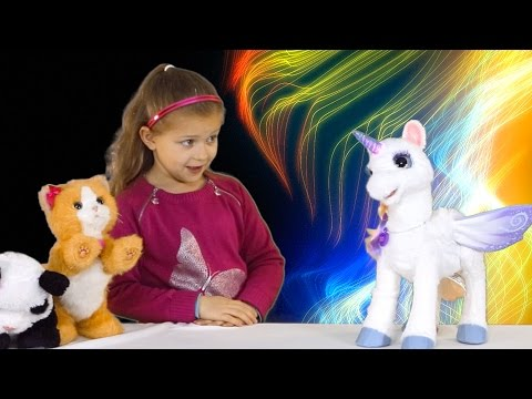 FurReal Teman StarLily Magical Unicorn Memenuhi Pom Pom Panda Dan Kitty Spiderman Surprise