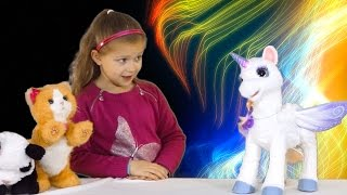 FURREAL FRIENDS STARLILY - Magical Unicorn meets Pom Pom Panda Toys Fun Play for Kids