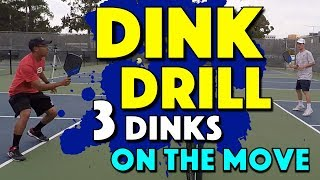 Pickleball Dink Drill | Control Your Dinks While On The Move