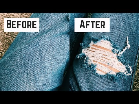 DIY DISTRESSED JEANS: BALLIN ON A BUDGET