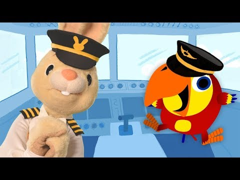 Harry And Larry Pretend Play Pilot | Baby Learning First Words with The Jobs Songs for Toddlers