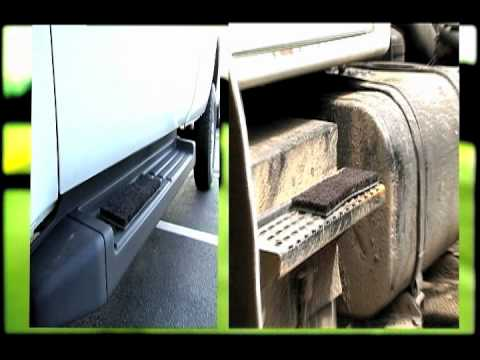 reddcarpet a removable device that can go on running board of an S.U.V. , inside a camper step etc