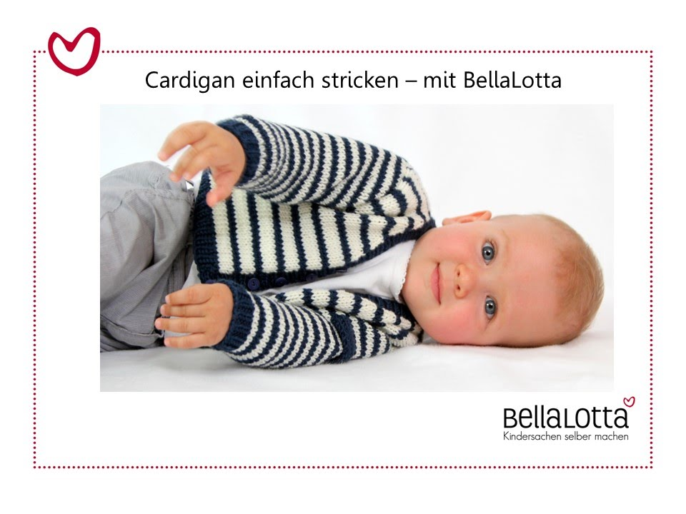 babyjacke cardigan einfach stricken stricken f r anf nger youtube. Black Bedroom Furniture Sets. Home Design Ideas