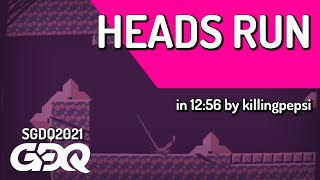 Heads Run by killingpepsi in 12:56 - Summer Games Done Quick 2021 Online
