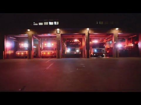 This fire department synced their trucks to Christmas music