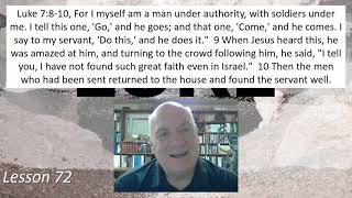 Luke 7:8-10  Lesson 72 April 13, 2021