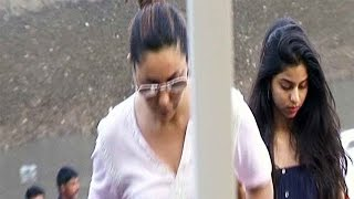 Gauri and Suhana return from SRK's birthday bash in Alibaug