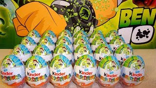 2019 NEW Full Ben 10 Toys Collection in 24 Kinder Surprise Eggs Huevos Sorpresas con Juguetes