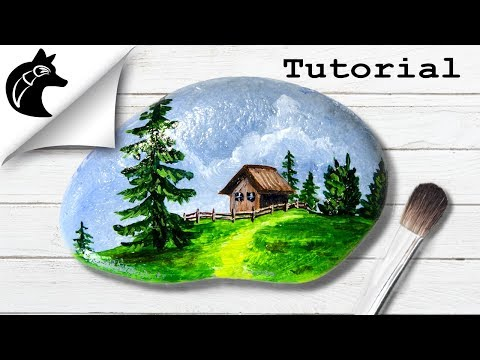 Rock Painting Tutorial For Beginners Landscape