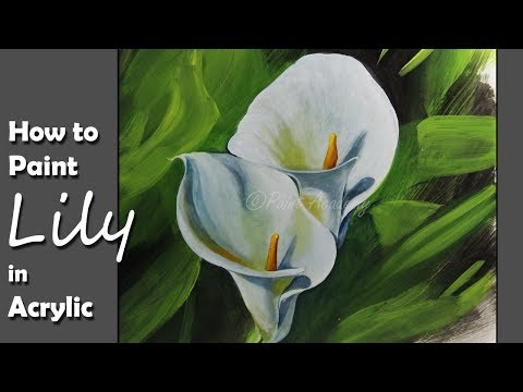 How to Paint Calla Lillies in Acrylic | step by step painting