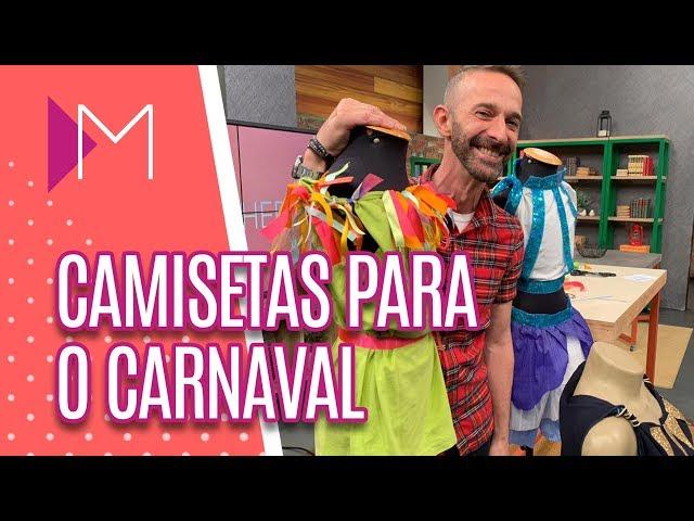 DIY: Camisetas para o Carnaval - Mulheres (12/02/2019)