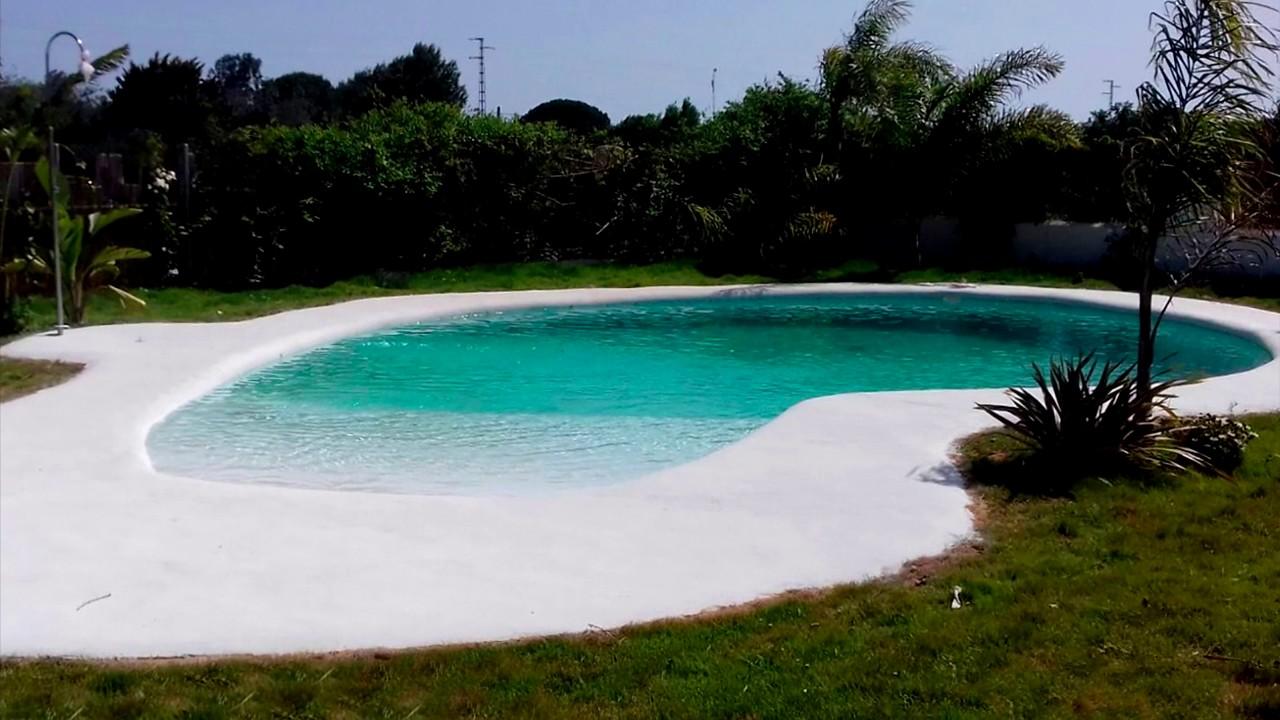 Piscina de arena piscina tipo playa youtube - Piscina de arena ...