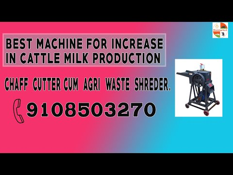 Chaff Cutter Cum Agriwaste Shreder From:Sarweshwara Agritech And Reaserch.Mo.No.+91-9423368301