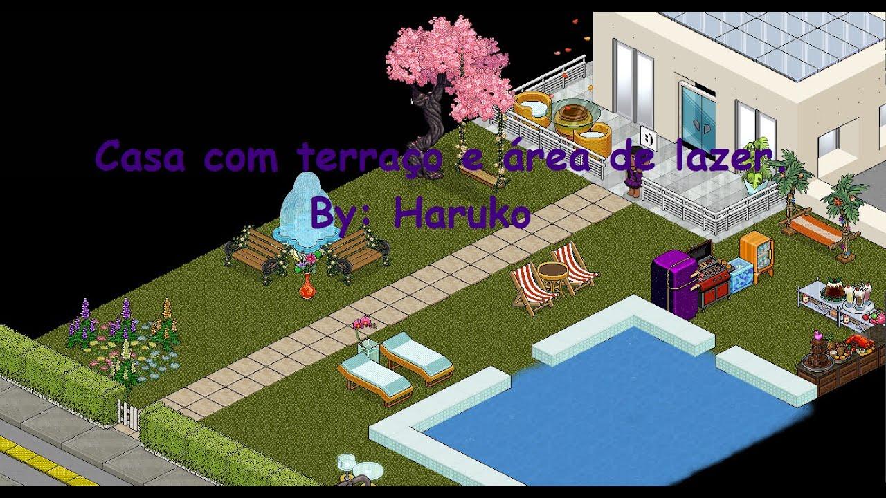 Casas Habblet ~ Casa com terraço +Área de lazer Habblive YouTube