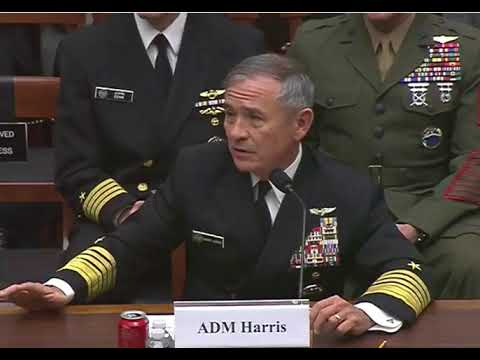 During questioning, Adm. Harris expresses need for additional attack submarines right now