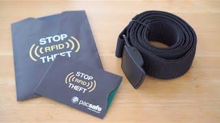 Pacsafe - RFID Blocking Credit Card & Passport Sleeve, Cashsafe Travel Money Belt [Unboxing 4K UHD]