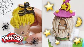 Wie Erstellen Spooky Halloween-Frisuren  ️ | Play-Doh Buzz 'n Cut Spielset