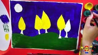 Осенний пейзаж в стиле живописи Винсента Ван Гога. Видео-урок