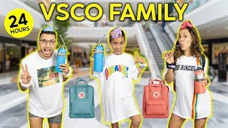 Becoming a VSCO FAMILY For 24 HOURS CHALLENGE! | The Royalty Family