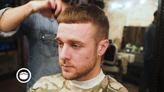 Ceasar Cut (French Crop) With Skin Fade | Cut and Grind