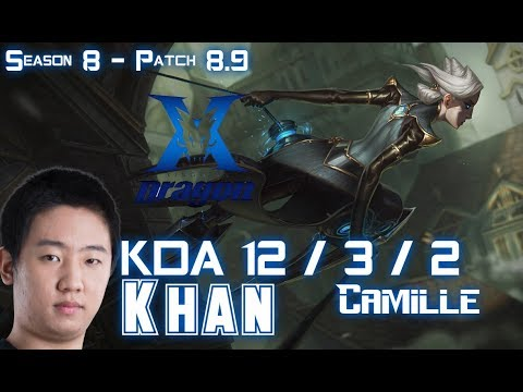 KZ Khan CAMILLE vs JAX Top - Patch 8.9 KR Ranked