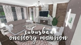 Roblox | Bloxburg: Suburban One-Story Mansion + VOICE REVEAL | Speedbuild