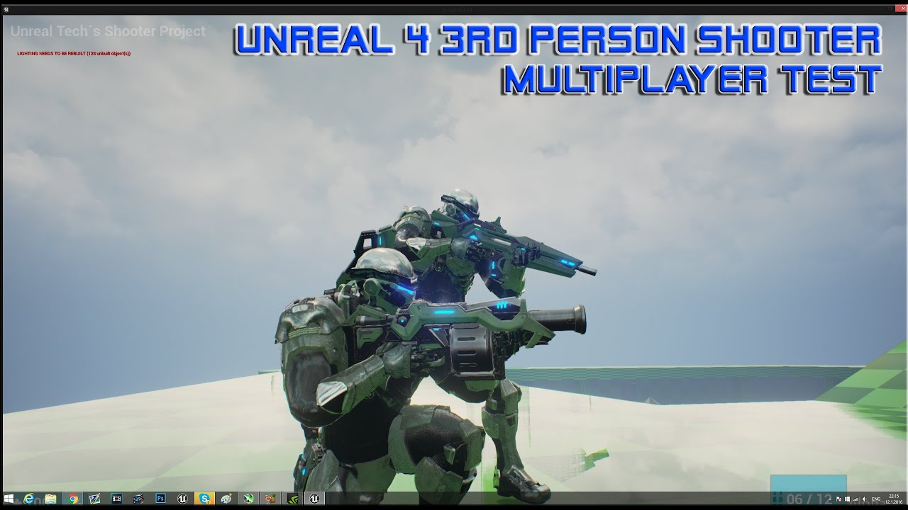 Unreal Engine 4 - 3rd Person Shooter Multiplayer Test