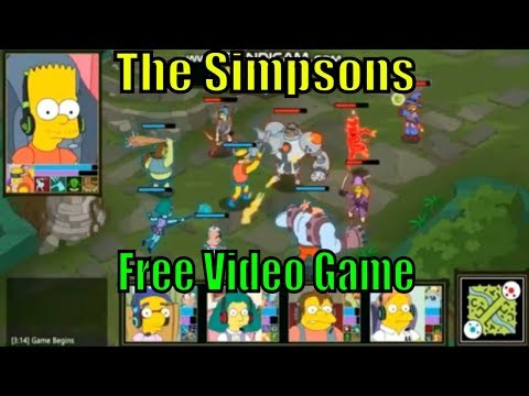 Simpsons Bart Game - Free Video Gamer Sports Escape Music