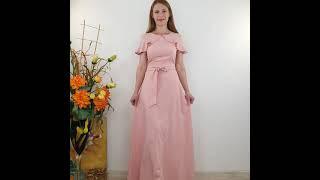 Нежное нарядное платье в пол