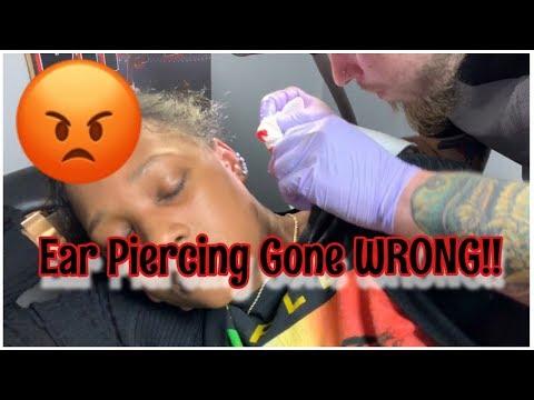 Ear Piercing Gone WRONG!!