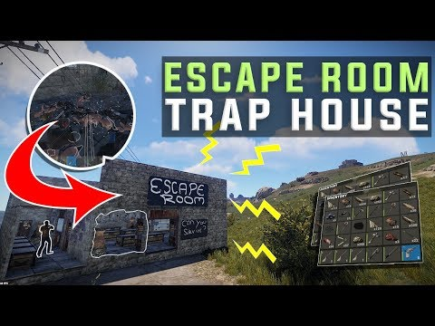 OBLITERATING Players In My *ESCAPE ROOM* TRAP HOUSE in Rust - Rust Electricity