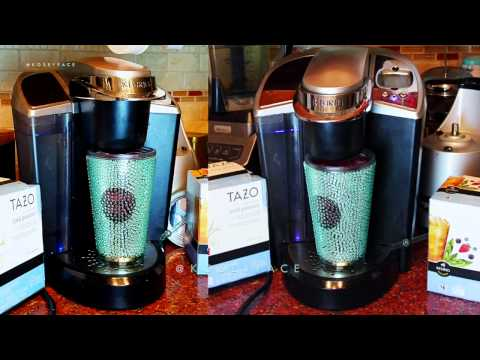 How to Make K-Cup Iced Coffee Tea Keurig Machine Starbucks Tazo - YouTube