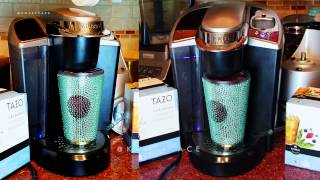 How to Make K-Cup Iced Coffee Tea Keurig Machine Starbucks Tazo