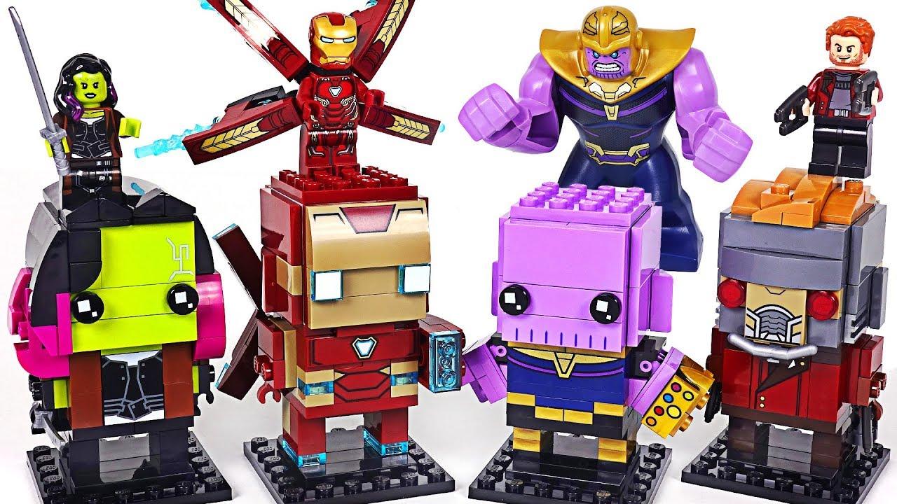 Give Thanos Lego BrickHeadz! Marvel Avengers Infinity War Hulk, Iron Man! Go! - DuDuPopTOY