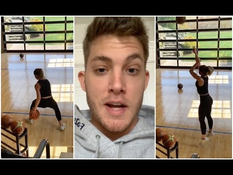 Meyers Leonard is surprised to come home & find his wife hooping