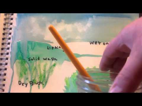 An Inventory of watercolor painting techniques by The Helpful Art Teacher