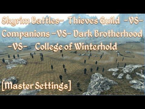 Skyrim Battles - Thieves Guild, Companions, Dark Brotherhood, College of Winterhold [Free-For-All]