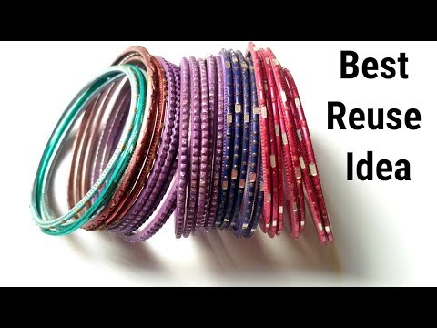 DIY Best out of Waste /Navratri Special Ornaments /Jewellery/Handmade Bangles, Best craft ideas.