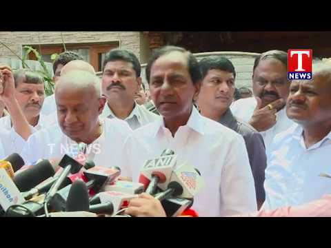 CM KCR Addressing Media After Meeting With Deve Gowda | Federal Front | Bangalore | TNews